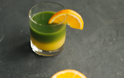 Matcha bicolore à l'orange