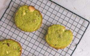 Cookies au thé matcha par Alexandre Couillon