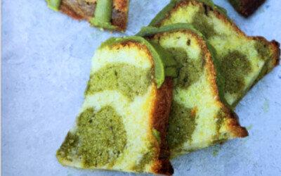 Gâteau marbré au matcha